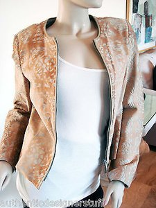 Salvatore Ferragamo Suede Beige Leather Jacket