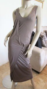 Brown Maxi Dress by Brunello Cucinelli Mid-calf Sleeveless