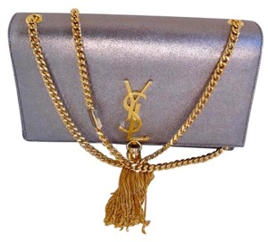 Saint Laurent Ysl Kate Metallic Monogramme Shoulder Bag