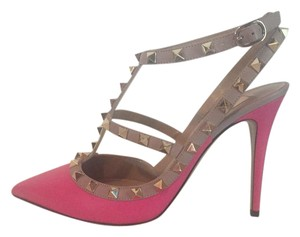 Valentino Studs Spikes Louboutin Pink Peony Pumps