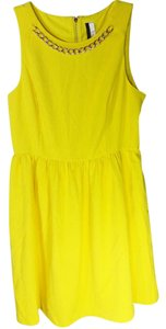 Kensie short dress Yellow Textured Fitted on Tradesy