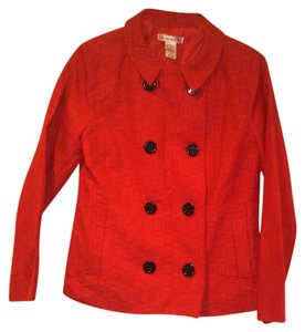 Susan Bristol Textured Red Blazer