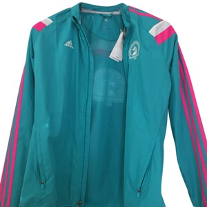 adidas turquoise with pink and white trim Jacket