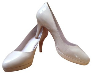 Vince Camuto Nude Patent Leather Pumps