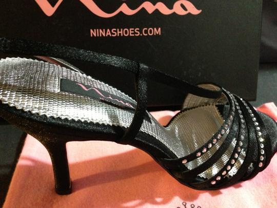 Nina Shoes Date Night Prom Party Stiletto Black / silver Formal