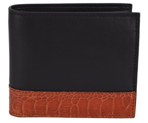 Gucci Gucci Men's 256418 Mistral Moon Ostrich Skin Leather Bifold Wallet