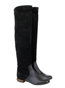 Gucci Bamboo Knee-high Suede Black Boots