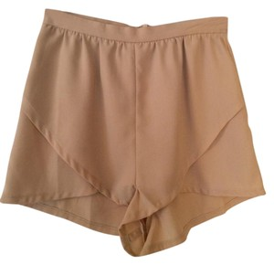 Tobi High-waisted Mini/Short Shorts Beige