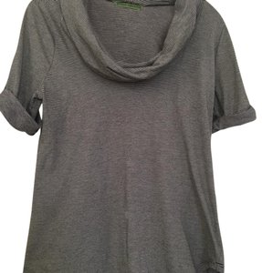 Velvet by Graham & Spencer Top dark grey and ivory