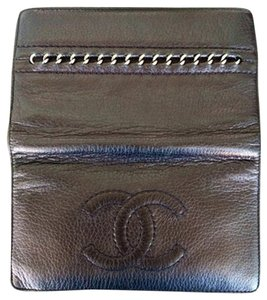 Chanel Black Chanel Wallet with Chain Detail On Back