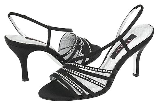 Nina Shoes Prom Date Night Party Strappy black/silver Formal