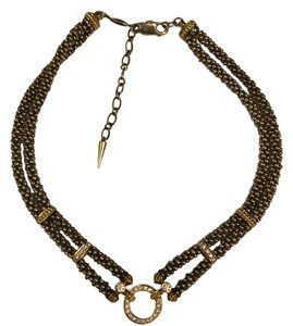 Lagos Lagos caviar necklace gold and silver with diamonds