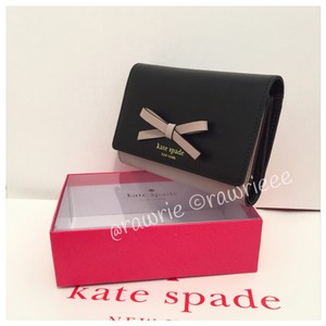 Kate Spade Sawyer Street Callie Trifold Colorblock Leather Wallet with Box