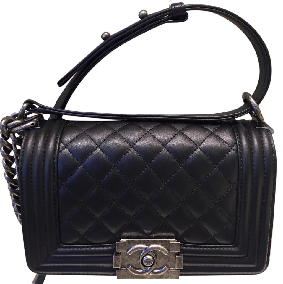 1998793007e1 Chanel Boy Quilted Small Flap In (A67085y09953) Black Calf Leather ...