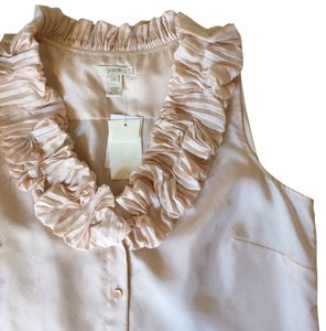 J.Crew Silk Ruffle Top Blush