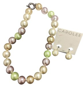 Carolee Pearl Necklace & Earring Set