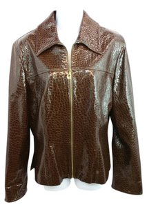 St. John Brown Leather Jacket