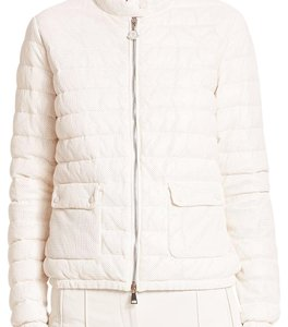 Moncler cream Leather Jacket