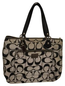 Coach Tote in silver/moonlight