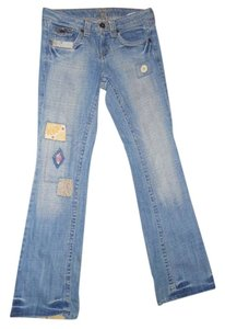 L.E.I. Boot Cut Jeans-Light Wash