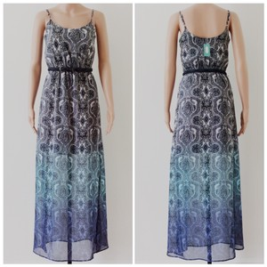 Multi Color Blue Maxi Dress by Maurices