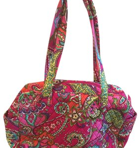Vera Bradley Pink Swirls Pink/Multi Diaper Bag