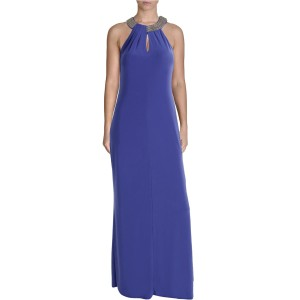 Laundry by Shelli Segal Full Length Evening Sleeveless Keyhole Dress