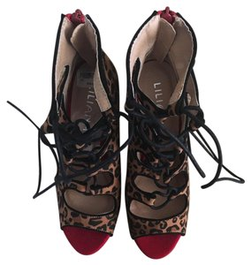Liliana Garnet Red and Leopard black laces Formal