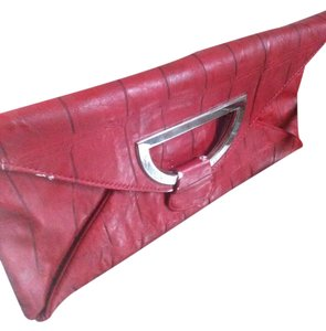 Nicole Lee Vintage Lizardskin red n black Clutch