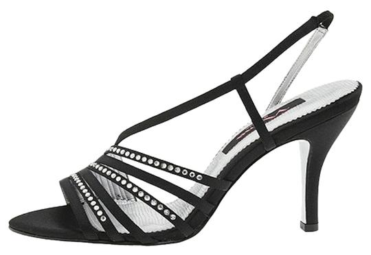 Nina Shoes Party Prom Strappy Black/ Silver Formal