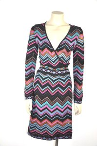 M Missoni short dress Multi color Zig Zag Print Long Sleeve on Tradesy
