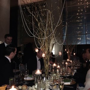 Tall Gold Manzanita Centerpieces