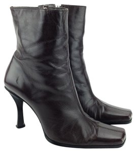 Guess By Marciano Mid-calf Leather Square-toe Brown Boots
