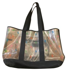 Polo Ralph Lauren Clear with blue and pink and green Beach Bag