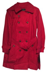London Fog Red Trench Never Worn Trench Coat
