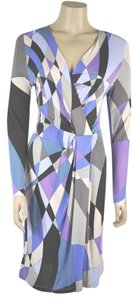 Emilio Pucci short dress Multi color Abstract Print Long Sleeve on Tradesy