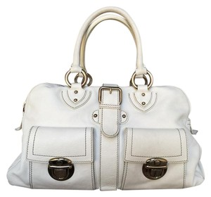 Marc Jacobs Leather Satchel in White