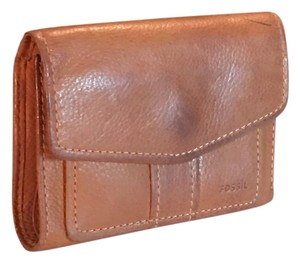 Fossil fossil trifold thick pebbled leather wallet