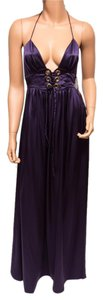 Ingwa Melero Silk Charmeuse Aubergine Sexy Dress