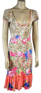 Blumarine short dress Multi color Floral Print on Tradesy