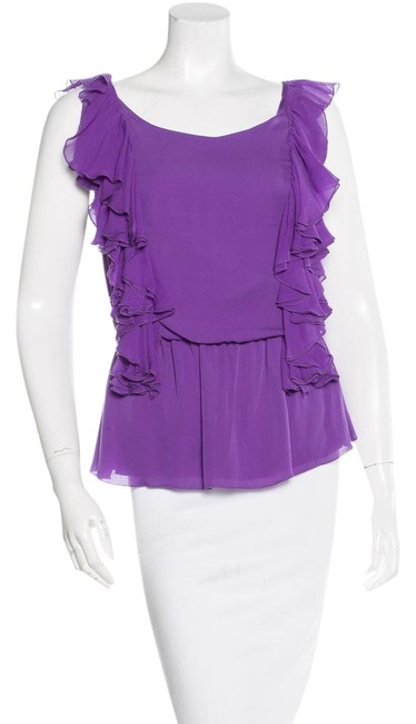 Preload https://img-static.tradesy.com/item/20446807/alice-olivia-purple-silk-blouse-size-2-xs-0-1-650-650.jpg