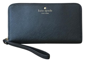 Kate Spade Kate Spade Black Saffiano Leather Erin Wristlet