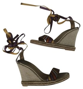 Marc by Marc Jacobs Jute Canvas Jute Canvas Multi Wedges