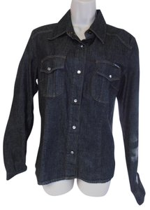 Dolce&Gabbana Long Sleeve New Without Tag Dolce & Gabbana D&g Shirt Button Down Shirt black denim