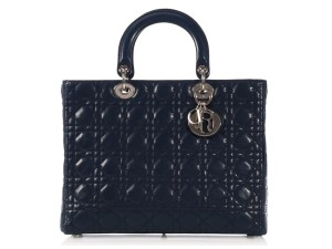 Dior Quilted Cd.k1006.12 Blue Cannage Charms Satchel