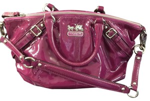 Coach Leather Satchel in Magenta