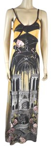 Multi Color Maxi Dress by Save The Queen Eiffel Tower Print Maxi