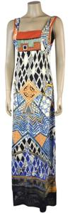 Multi color Maxi Dress by Save The Queen Embroidery Detail Maxi Sleeveless