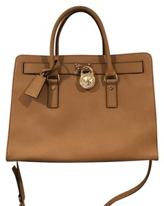 Michael Kors Leather Gold Tote in Brown