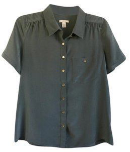 J.Crew Button Down Shirt Dark green